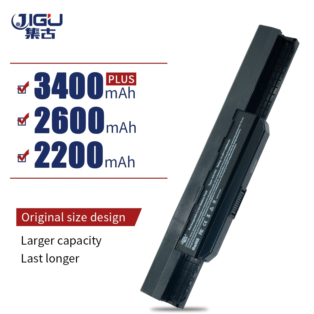 JIGU batterie dordinateur portable X43SM K53TK X53E Pour ASUS X44LY X43SR K53SN X53SG PRO5N X53SE X43JR K84HO X43SJ X44 X43SV Série K53SD