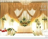 gold wedding backdrop wholesale stage decoration wedding supplies 10ft20ft wedding backdrop with swag stage decorations