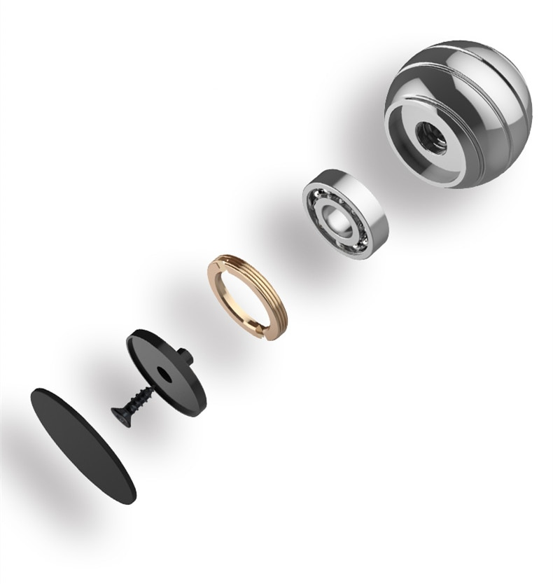 Vortecon Desktop Anti Stress Toy Aluminum Alloy Decompression Hypnosis Rotary Gyro Adult Fingertip Toy Round Metal Spinner Gift enlarge