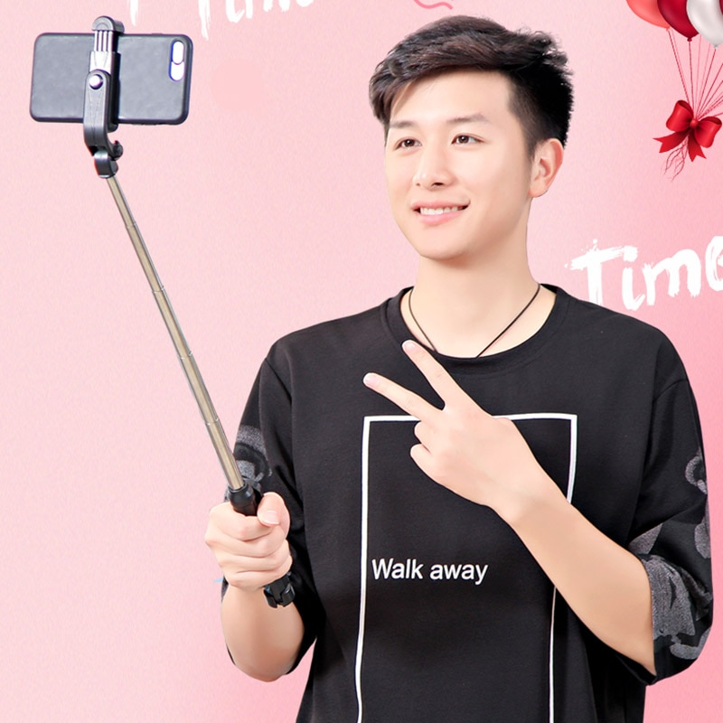 4 In 1 Wireless Bluetooth Selfie Stick with Remote Control for iPhone Samsung Huawei New Arrival