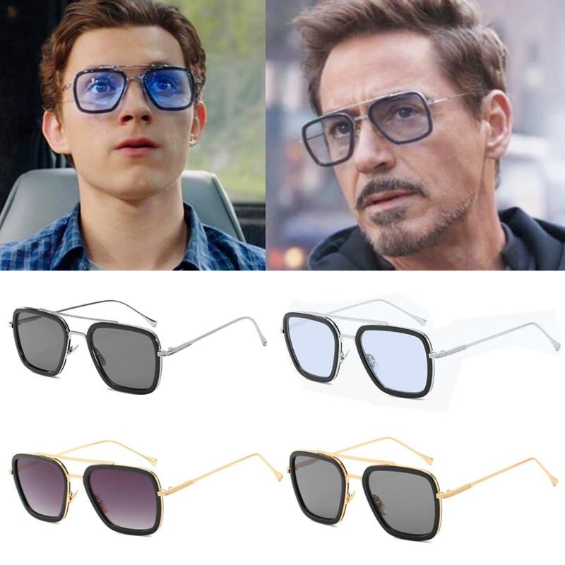 Iron-Man Glasses Movie Superhero Peter Parker Cosplay Edith Sunglasses Prop