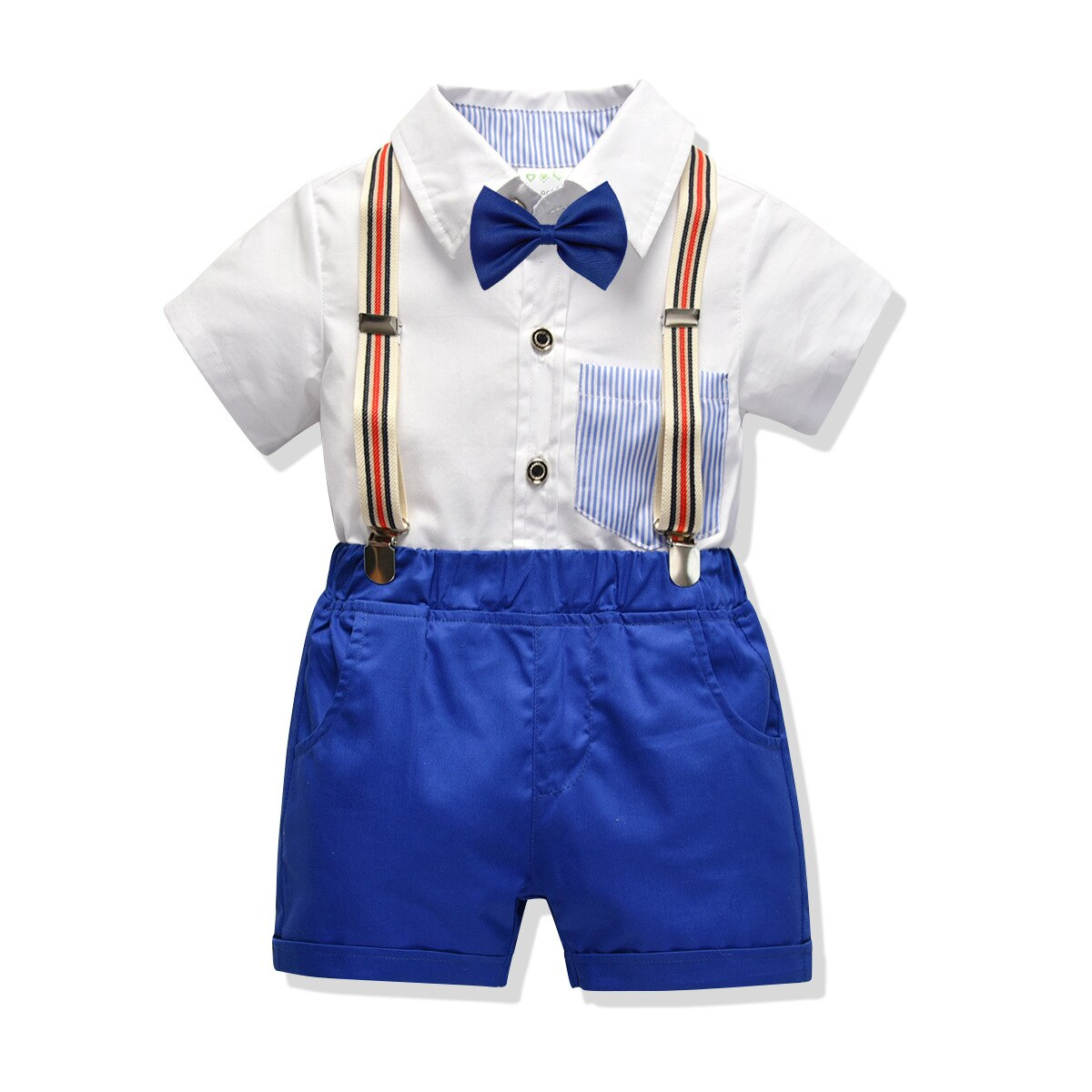 Formal de los niños traje de falda blanca falda azul + Pantalones cortos niños ropa conjunto guardapolvos niños Mariage niños boda Caballero trajes