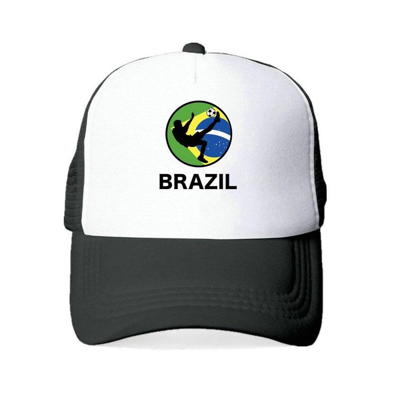 Hombres Mujeres fútbol Brasil equipo Snapback gorra 2018 Brasil Fan fútbol deportes gorra amarillo verde Brasil Bandera Nacional del loro YY456