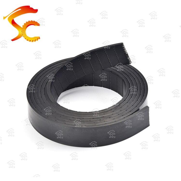 حزام مسطح P3 من البولي يوريثان لمعدات اللياقة البدنية ، 50 مترًا ، عرض 25 مللي متر ، 2 مللي متر ، شحن مجاني