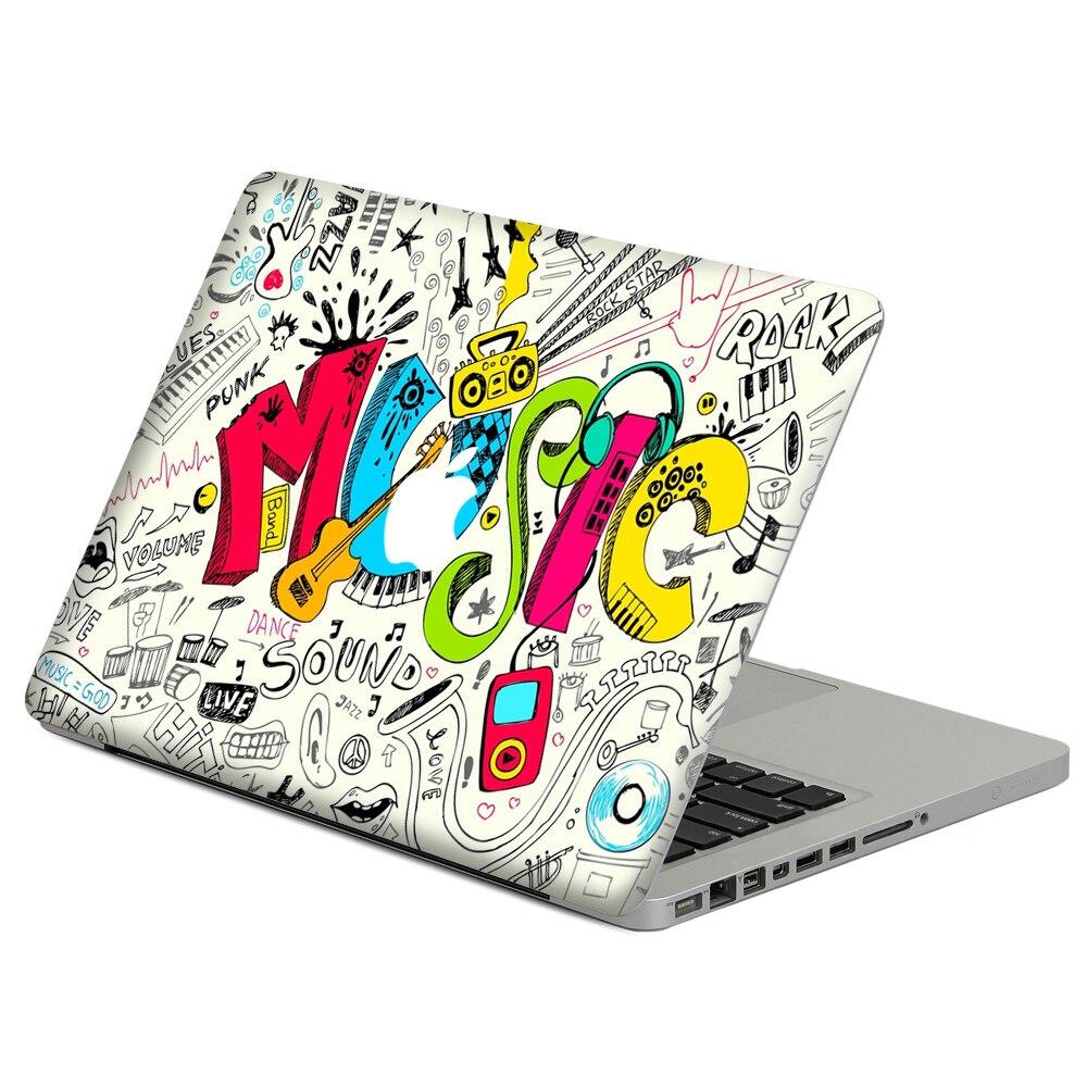 """Rock Music Doodle Laptop calcomanía piel para MacBook Air Pro Retina 11 """"13"""" 15 """"vinilo funda de Macbook cuerpo cubierta completa piel"""