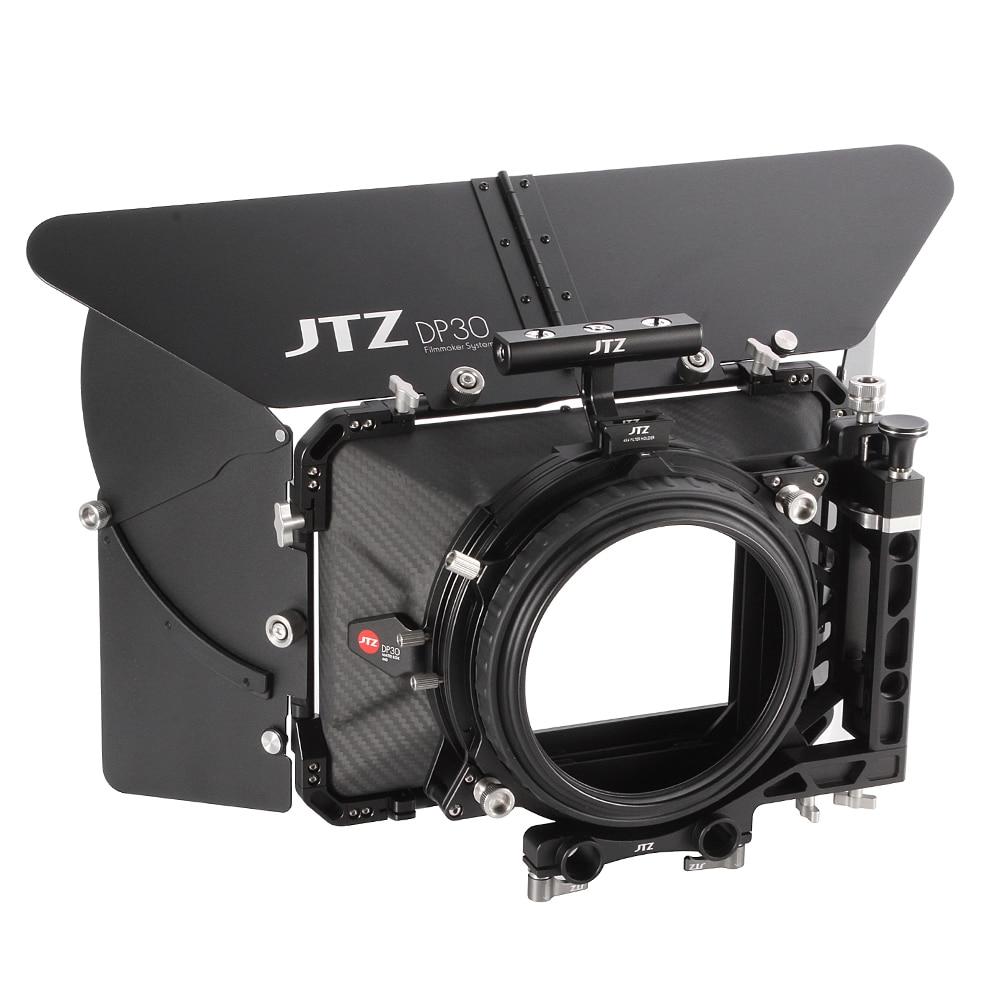 "JTZ DP30 Cine карбоновое волокно 4x4 ""Матовая коробка 15 мм/19 мм для Sony ARRI RED CANON BMD"