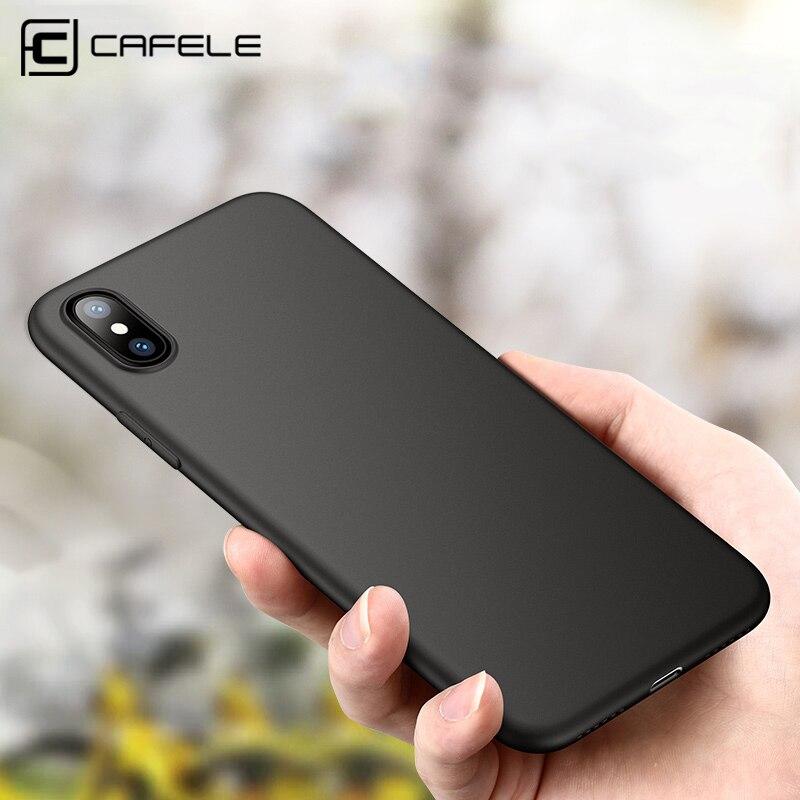 Funda de teléfono de silicona CAFELE para iPhone 11 Pro Max XS MAX ultrafina suave de TPU flexible para iPhone 11 pro max