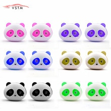 Hot selling 2pcs Car Styling Air Conditioning Vent Air Freshener Car Perfume Panda Eyes Flavoring In the Car parfums