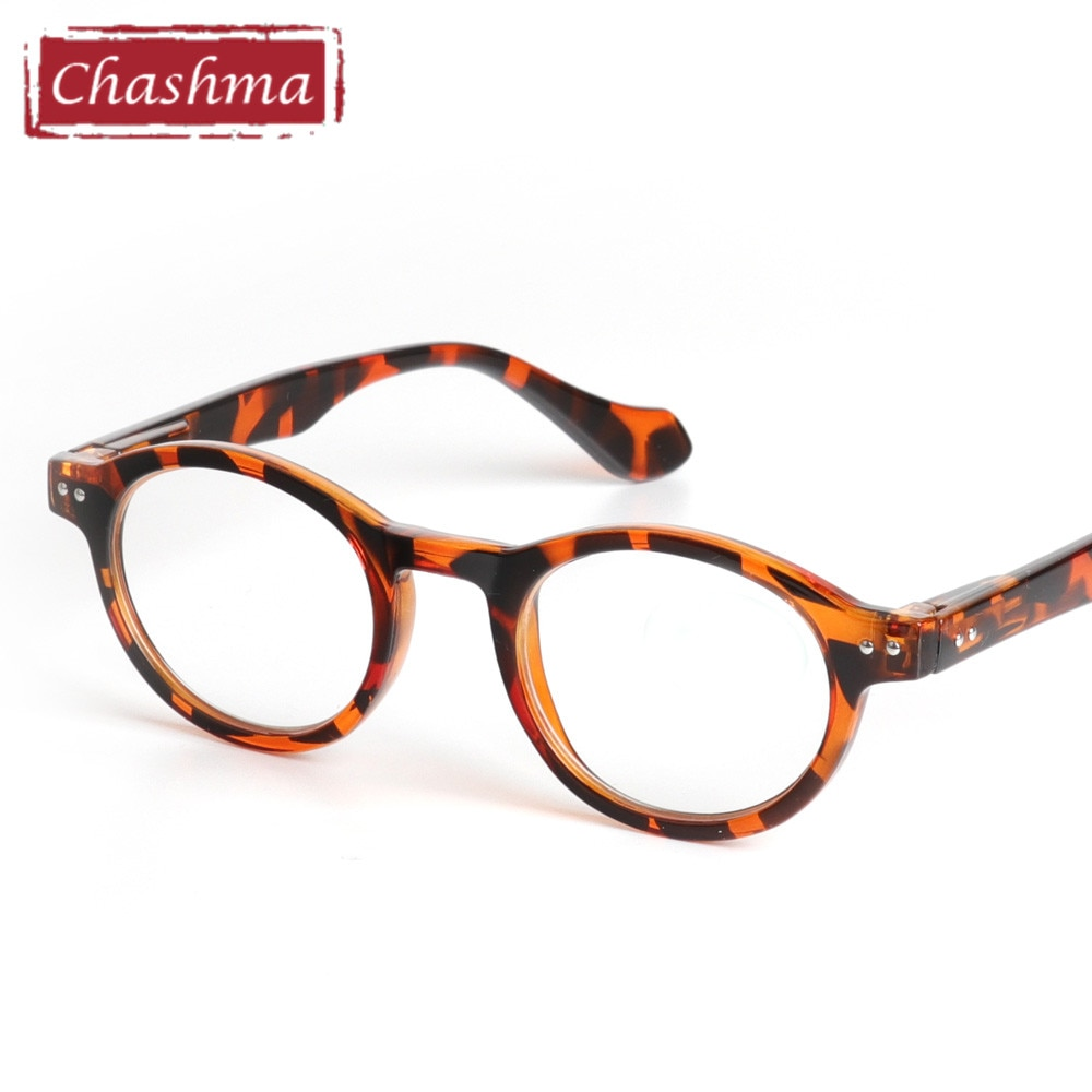 Chashma Retro Style Optical Glasses High Quality Eyewear Vintage Leopard Glasses Frame Round Reading Glasses