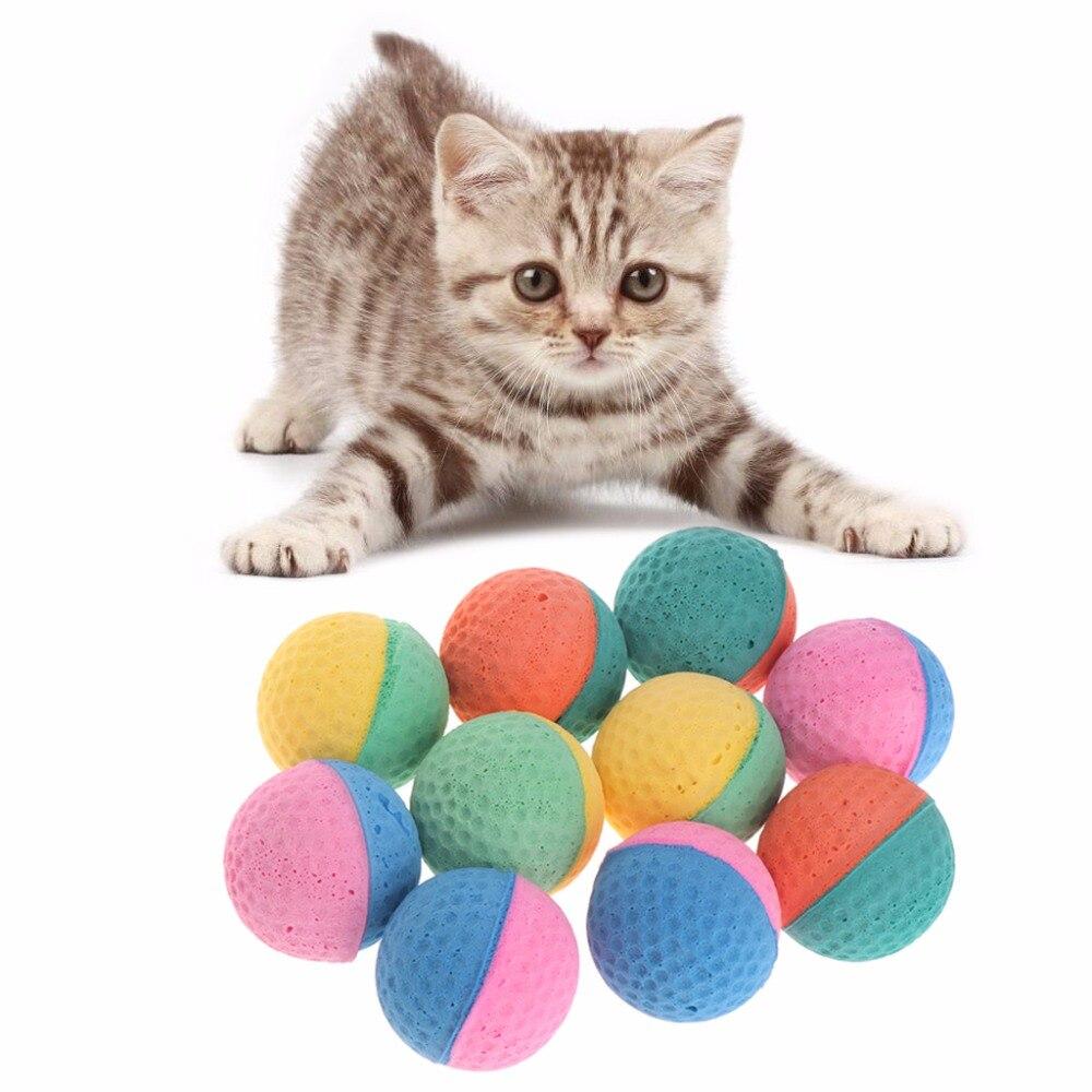 10 шт., игрушки для собак, кошек, латексные шары, цветные жевательные игрушки для собак, кошек, щенков, котят, мягкие эластичные товары для домашних животных W20
