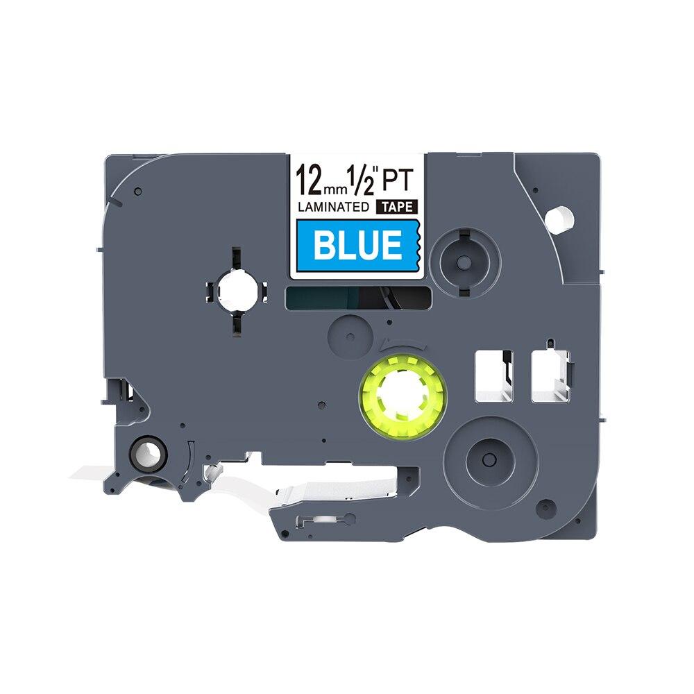 1 Uds PUTY 12mm blanco sobre azul TZe-535 tz535 TZ-535 cinta de etiquetas compatible hermano PT200 D210 H110 E110 P-Touch impresoras de etiquetas