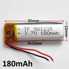 3.7 فولت 180 مللي أمبير بطارية 501235 ليثيوم بوليمر ليثيوم بو ليثيوم أيون بطارية قابلة للشحن ل Mp3 MP4 MP5 GPS PSP المحمول الإلكترونية جزء