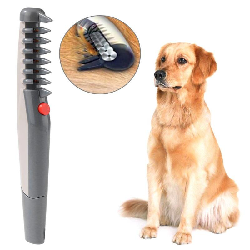 Eléctrica de aseo de mascotas peine el cabello recortadora de peluquero eliminar Tijera para pelo de mascota Trimmer perro Belleza del cabello suministros