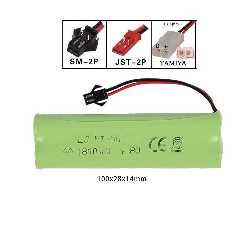 4.8v 1800mah AA NI-MH  High capacity rechargeable Battery for RC car RC boat RC truck SM/Tamiya/JST plug