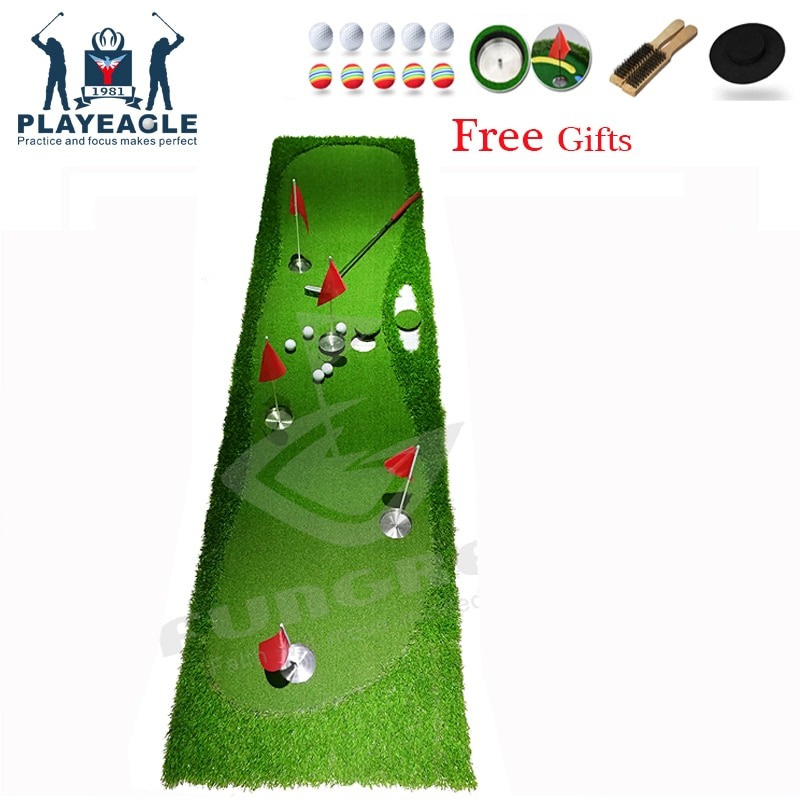 New FUNGREEN Golf  5 Holes Putting Green 75x300cm Indoor Outdoor Training Putter Mat Interesting Practice Golf Putting Pad