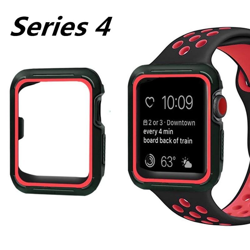 Muñequera deportiva para apple watch nike + series 4 correas 40mm 44mm correas de reloj con funda para iwatch series 3/2/1 38mm 42mm pulsera