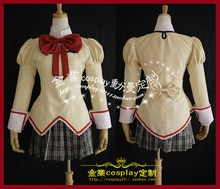 Costume Cosplay Puella Magi Madoka Magica Akemi Homura Costume uniforme scolaire