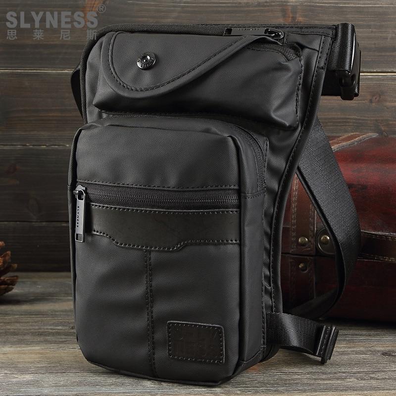 Paquete de cintura nueva moda casual impermeable nylon hombres cintura bolso tronco Fanny militar paquete ocio bolsa de pierna para motocicleta muslo bolsa