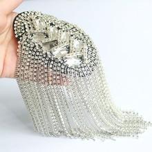 Epaulette/epaulet shoulder/charreteras/bling handmade kpop clothing accessories suit decoration brooches/broches/brosche
