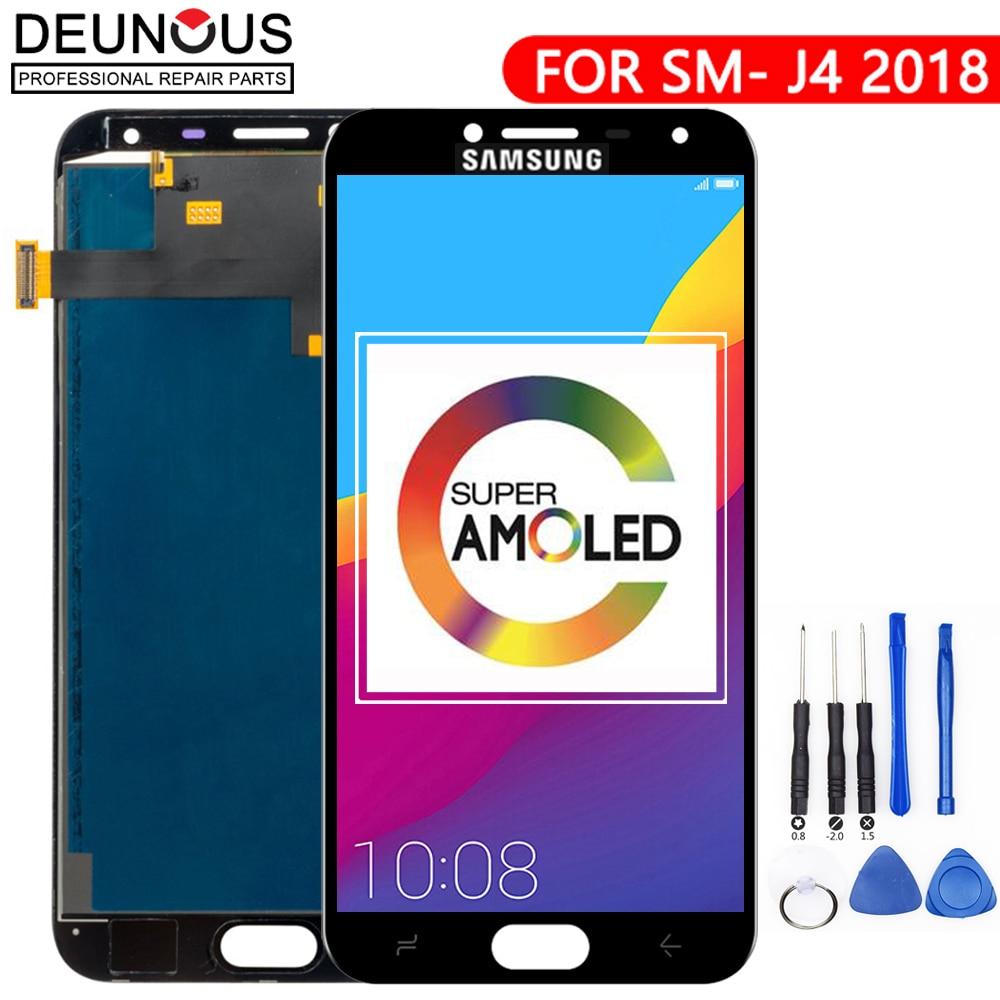 Voor J400 AMOLED LCD Voor Samsung Galaxy J4 J400 J400F J400G/DS SM-J400F Lcd Touch Screen Digitizer Vergadering vervanging