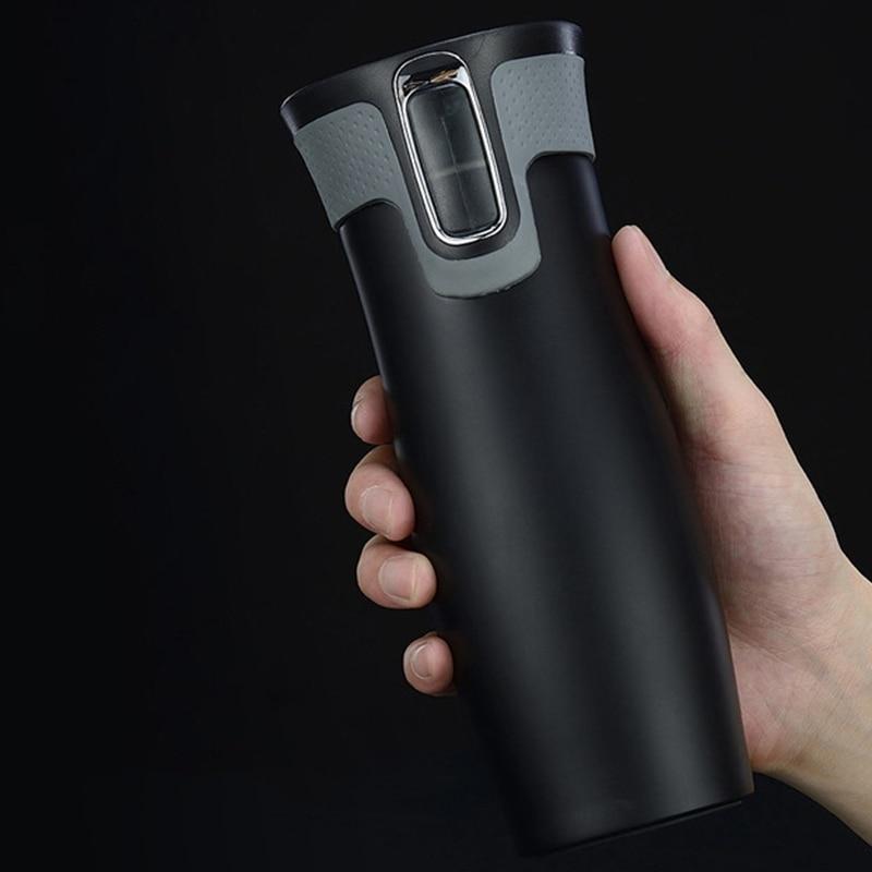 Tazas de viaje de acero inoxidable con aislamiento al vacío de 450Ml y 16 Oz, termos de agua, botellas de té térmicas, tazas automáticas
