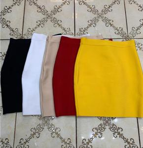 Wholesale Free Shipping Candy Color Sexy Women Bodycon Mini Bandage Skirt 2021 Designer Fashion Black Pencil Skirt Faldas 43cm
