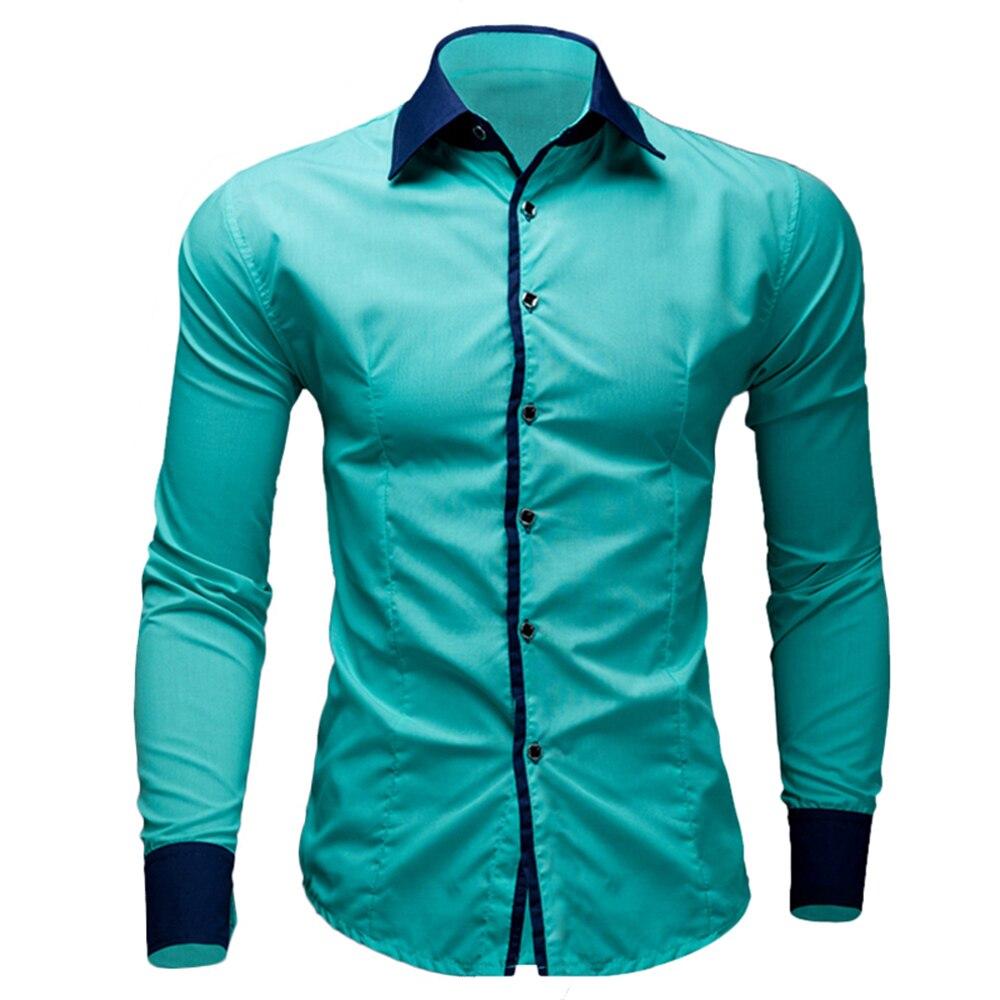 Брендовые новые мужские рубашки, повседневные рубашки, облегающие рубашки с длинным рукавом, Camisa Masculina, повседневные рубашки, размер: M-XXL