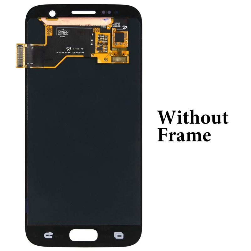 for mobile phone G930F with frame lcd For S7 lcd display OEM quality 5.1 inch replacement digitizer lcd screen assambly enlarge