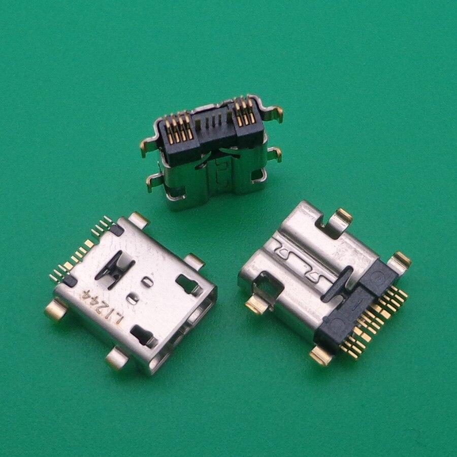 10 قطعة مايكرو البسيطة USB 12 دبوس أنثى المقبس موصل للهاتف اللوحي ميناء الشحن بيانات
