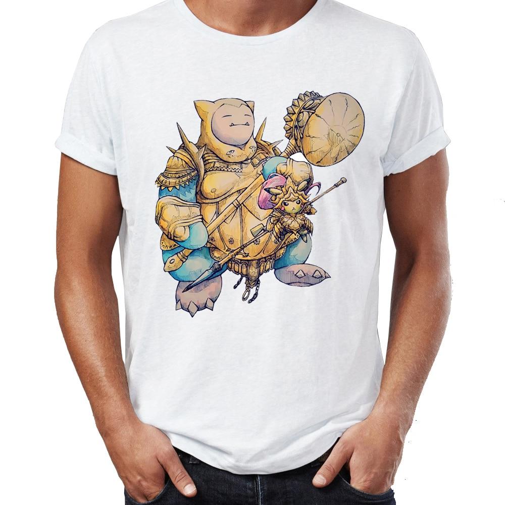 Men T-shirt Dark Souls Dragonslayer Ornstein And Executioner Smough Snorlax And Pikachu Pokemon Awesome Artwork Tshirt Tees Tops