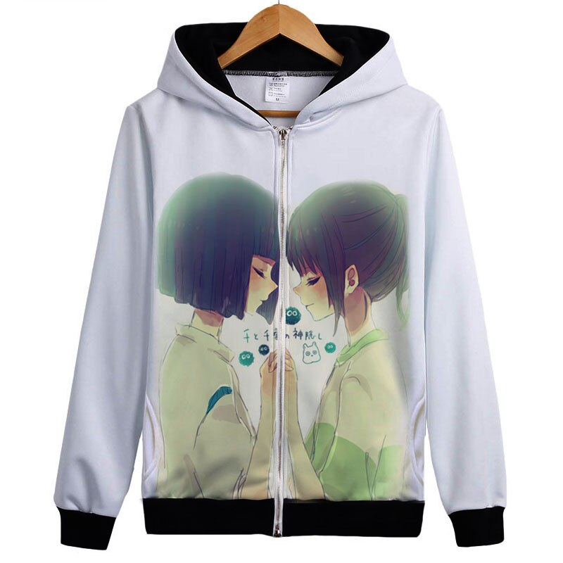 En espíritu sudaderas con capucha un viaje de Chihiro con capucha Sen A Chihiro no kamikakushi abrigo lindo espíritu lejos Haku Sudadera con capucha Hayao Miyazaki