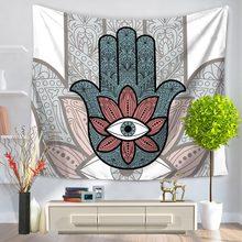 نسيج همسة يدوي من TUEDIO نسيج هندي معلق على الحائط بنقشة أزهار للمنزل سجادة فنية مفعمة بالمخدر 150x130cm