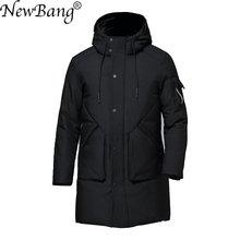 NewBang hiver hommes doudoune plume Parka pour homme chaud épais Long duvet manteau mâle coupe-vent imperméable Parkas