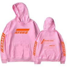 FADUN TOMMY ATEEZ Print Hooded Women and Men popular Clothes 2019 Harajuku Casual Hot Sale Hoodies Kpop sweatshirt Plus Size