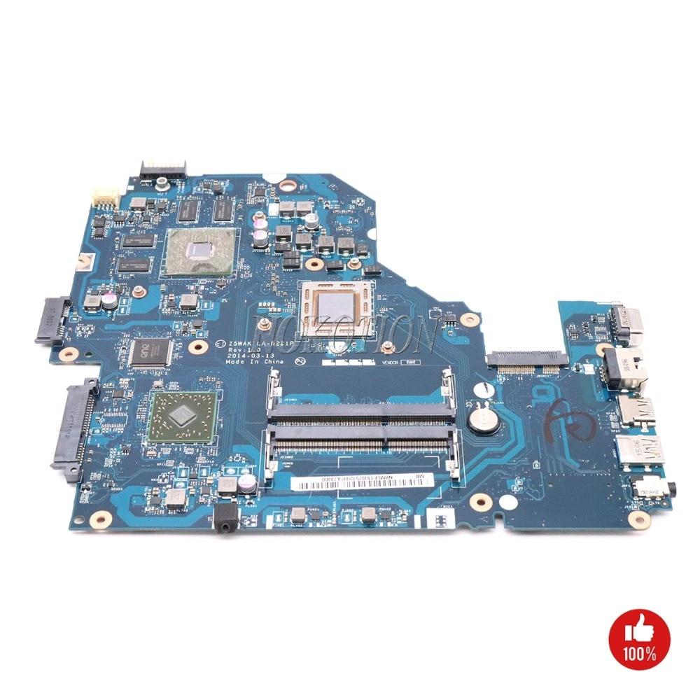 NOKOTION Z5WAK LA-B221P NBMLE11002 NB. MLE11.003 para la placa base del ordenador portátil Acer aspire E5-551G DDR3 R7 M265 A8 tarjeta de vídeo CPU