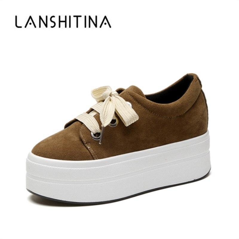 2018 осенние женские замшевые туфли на танкетке; Кроссовки на платформе; Обувь на молнии; Обувь на скрытом каблуке, визуально увеличивающая ро...