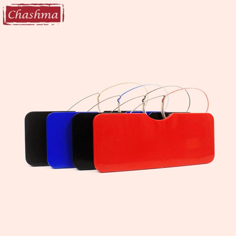 Chashma Clipe Óculos Mini Óculos de Presbiopia Carteira Dos Homens Das Mulheres Óculos de Leitura Sem Braços