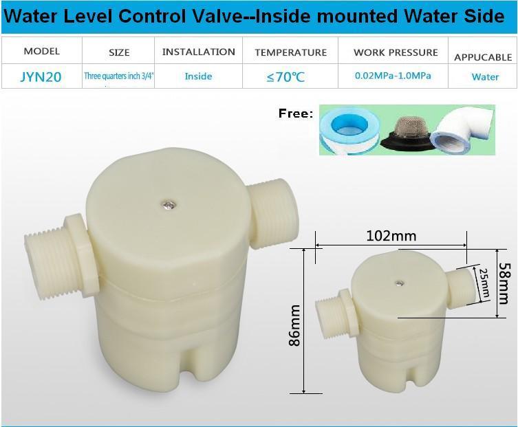 """Envío Gratis 3/4 """"lado entrada construido-en/interior montado en válvula de flotador Válvula de control de nivel de agua Solar para pileta tanque de agua"""