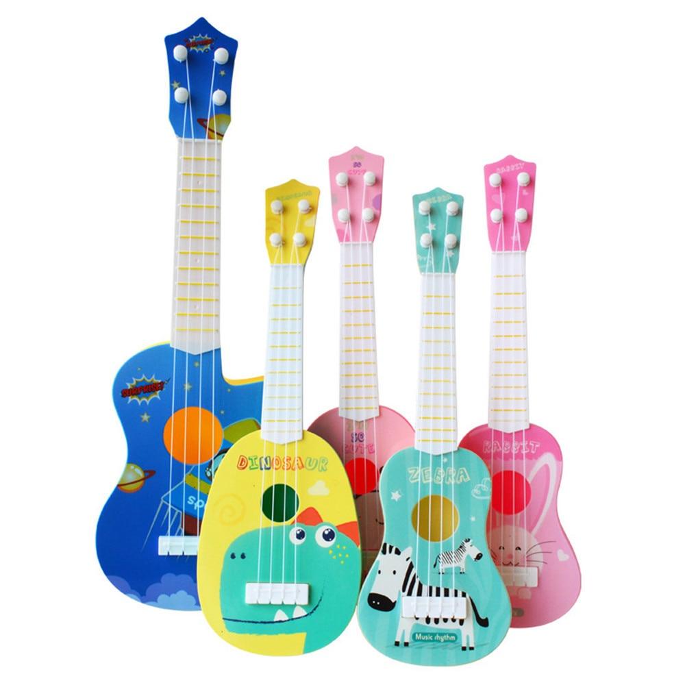 Kids Plastic Toy Sturdy Ukulele Non-toxic Musical Instrument Preschool Music Montessori Toy 2020 Hig