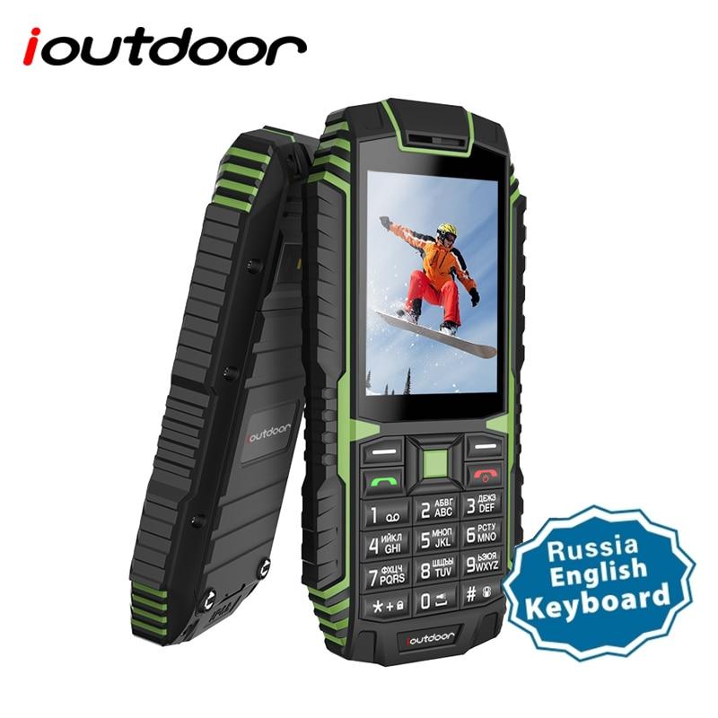ioutdoor T1 2G Feature Mobile Phone Rugged IP68 Waterproof Phone FM GSM SIM Card Led Flashlight 2MP