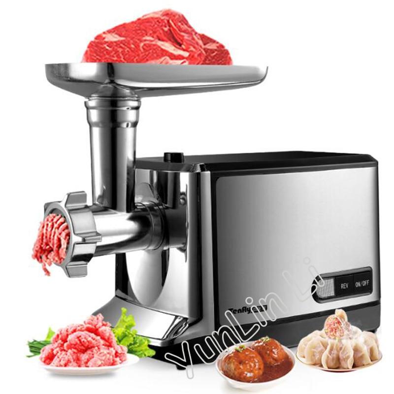 Commercial Electric Meat Grinder 220V 50Hz Household Garlic/Pepper Grinding Machine Steel Meat Mincing Machine