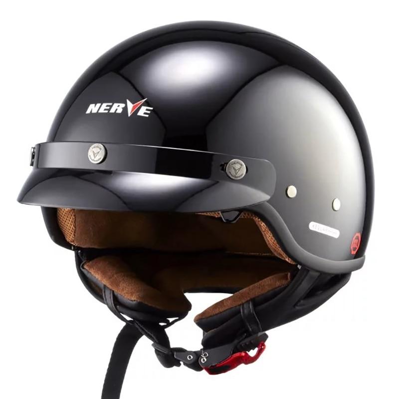 العصبية دراجة نارية خوذة الألياف الزجاجية KAVLER نصف دراجة نارية الدراجات البخارية خوذة Capacete كاسكو جت خمر الرجعية خوذة