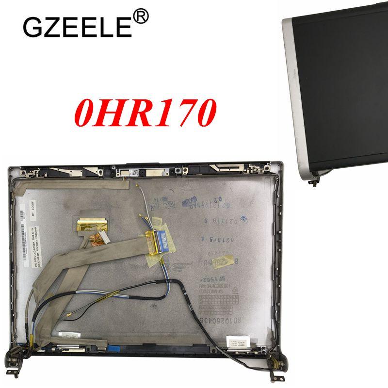 GZEELE-غطاء LCD علوي مع مفصلات لجهاز DELL XPS M1330 ، 13.3 بوصة ، غطاء خلفي علوي ، HR170 0HR170