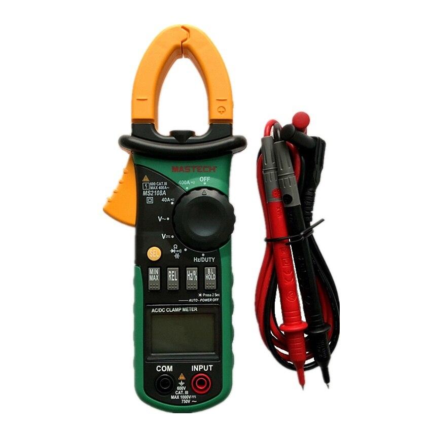 MASTECH MS2108A Auto Range Digital Clamp Multimeter 4000 Zählt DC/AC Voltmeter Amperemeter Strom Widerstand Tester multimetro