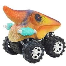 Children'S Day Gift Toy Dinosaur Model Mini Toy Car Back Of The Car Gift Pull Back Cars Hobby Kid Funny Gift