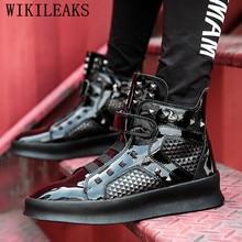 High Top Sneakers Männer Nieten Schuhe Luxus Marke Mens Trainer Designer Schuhe Goldene Casual Schuhe Hip Hop Schuhe Männer Chaussures