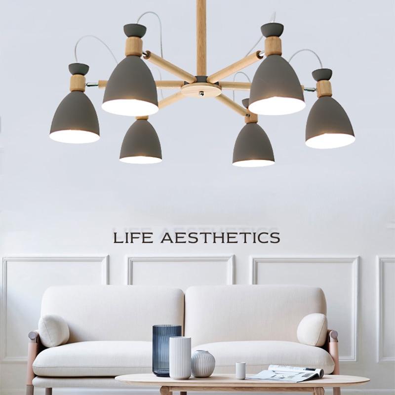 ثريا حديثة من الخشب الصلب قابلة للتعديل ، على الطراز الاسكندنافي ، لغرفة المعيشة ، المطبخ ، غرفة النوم ، الشقة ، غرفة النوم ، المطعم ، تركيبات...