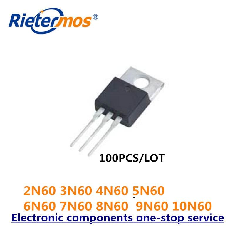 100 Uds 2N60 3N60 4N60 5N60 6N60 7N60 8N60 9N60 10N60 TO220 NMOS 600V hecho en CHINA