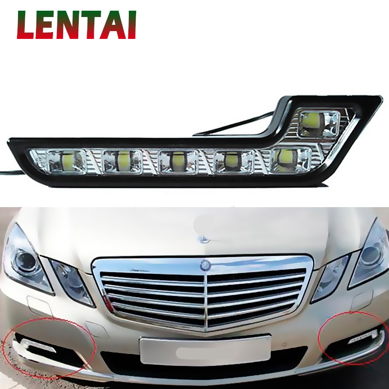 LENTAI 1Set del coche LED DRL luces 12V L estilo lámpara de niebla para Kia Rio Ceed Sportage Peugeot 307, 206, 308, 207, 407 Hyundai Solaris I30