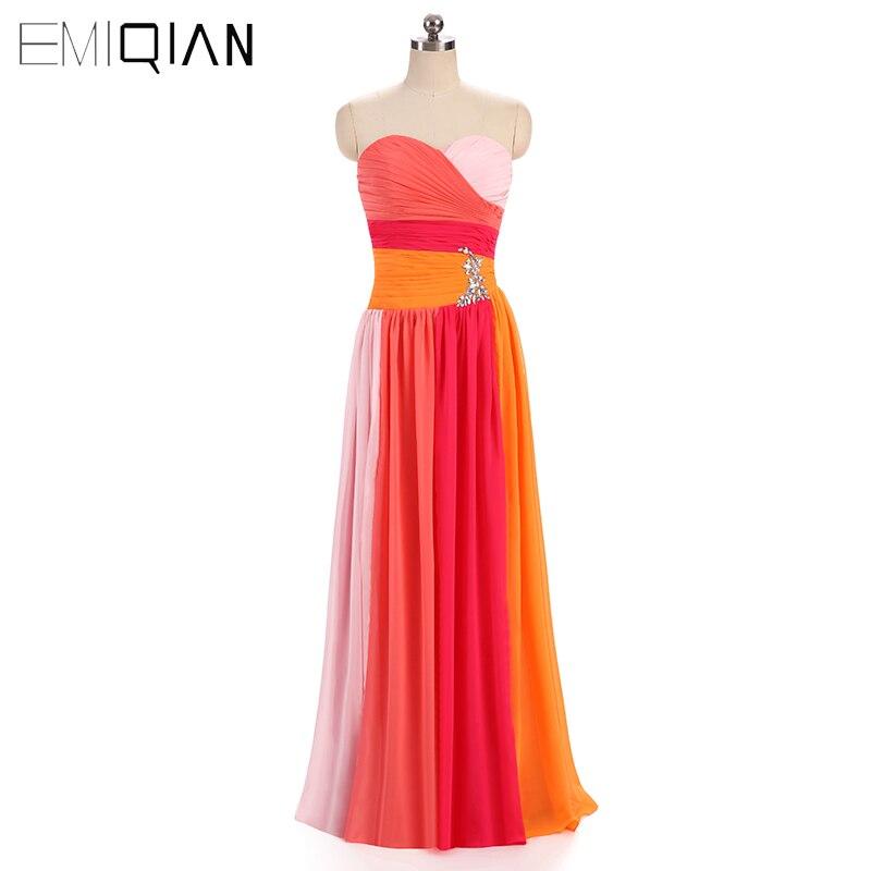 ¡Promoción! Vestidos de Fiesta de gasa sin tirantes coloridos populares clásicos de envío gratuito para mujer